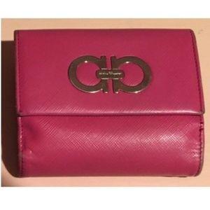 Salvatore Ferragamo Saffiano Leather Flap Wallet